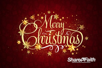 Merry Christmas Service Greeting Motion Graphic