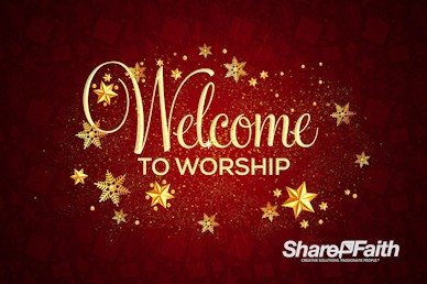Merry Christmas Service Welcome Motion Graphic