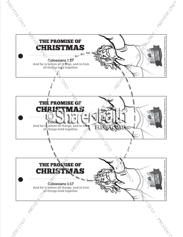 The Promise of Christmas Bible Bookmarks