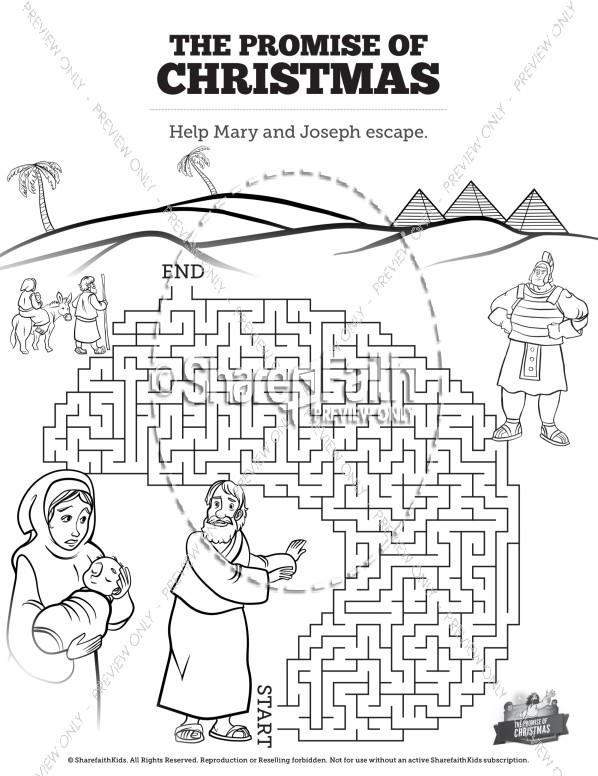 The Promise of Christmas Bible Mazes