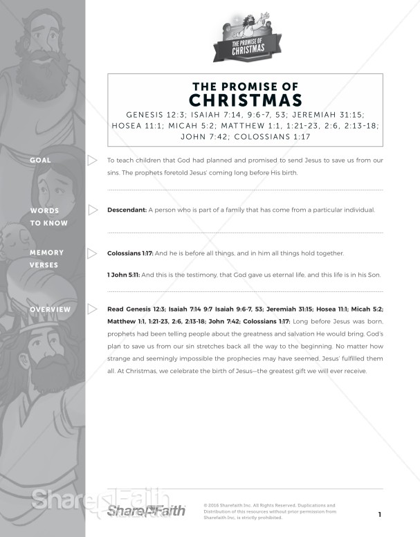 The Promise of Christmas Curriculum