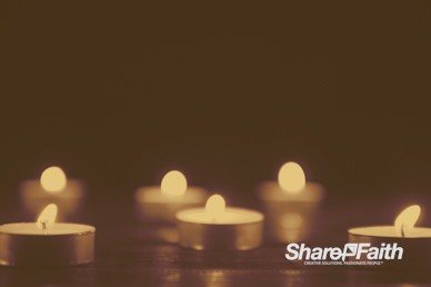 Christmas Candle Sepia Tone Worship Motion Background