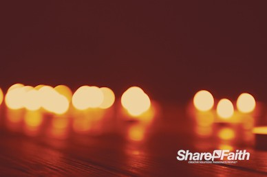 Christmas Candle Bokeh Worship Motion Background
