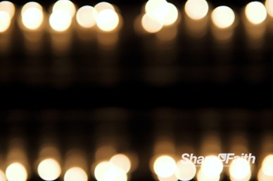 Christmas Candle Light Rows Worship Video