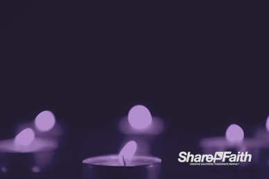 Christmas Candle Violet Worship Motion Loop