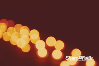 Christmas Candle Bokeh String Worship Video