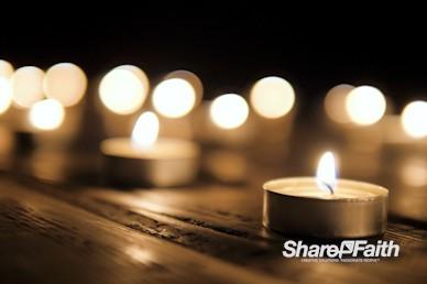 Christmas Candles Worship Motion Background