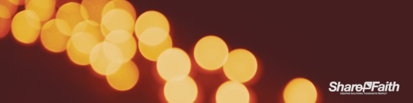 Christmas Candle Bokeh String Triple Wide Worship Video