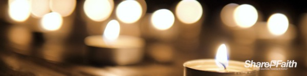 Christmas Candles Worship Triple Wide Motion Background