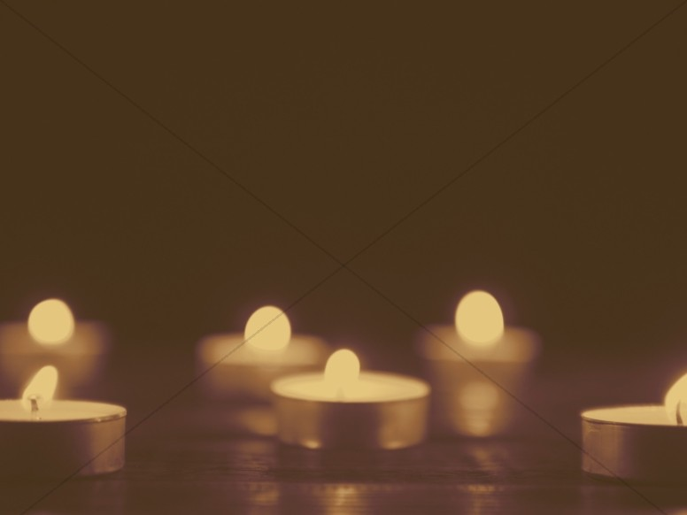 Christmas Candle Sepia Tone Worship Background
