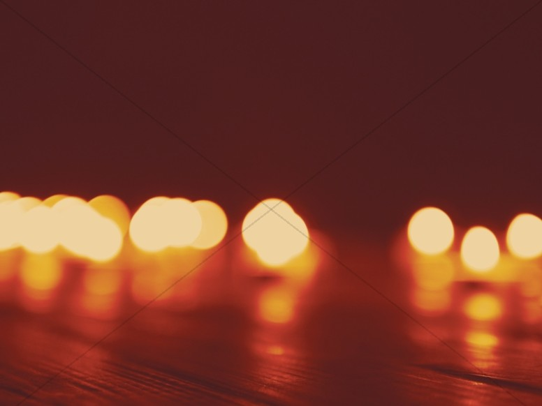 Christmas Candle Bokeh Worship Background