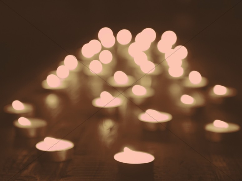 Christmas Candle Table Worship Background