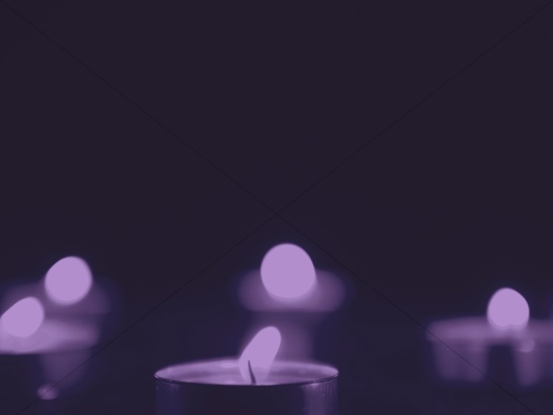 Christmas Candle Violet Worship Background