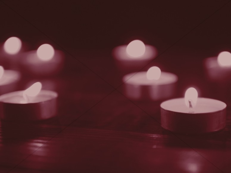 Christmas Candle Scarlet Worship Background