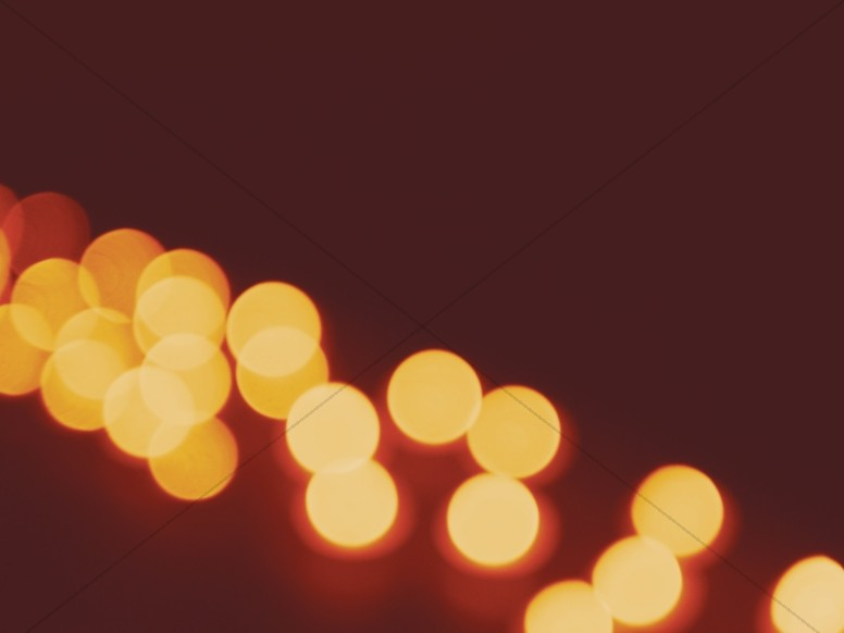 Christmas Candle Bokeh String Worship Background