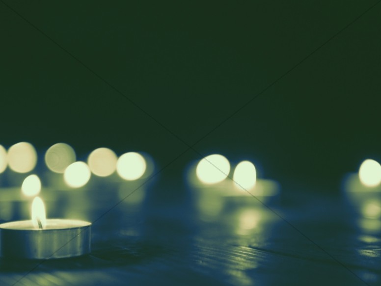 Christmas Candle Glow Worship Background
