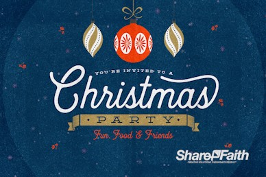 Christmas Party Invitation Motion Graphic
