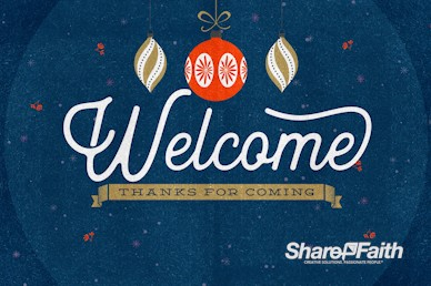 Christmas Party Welcome Motion Graphic