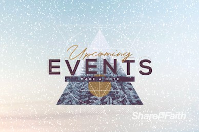 Merry Christmas Winter Events Motion Graphic