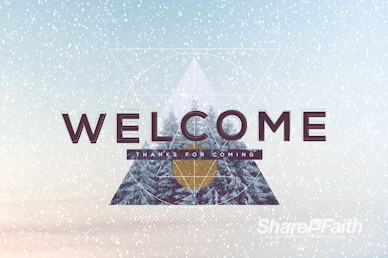 Merry Christmas Winter Welcome Motion Graphic