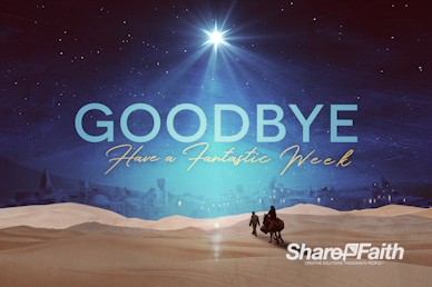 Christmas Journey Goodbye Motion Graphic