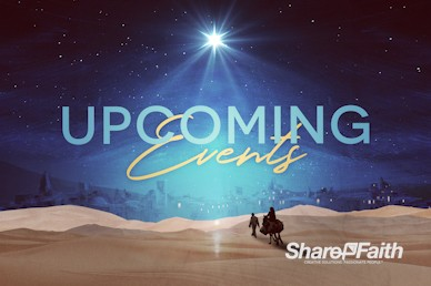 Christmas Journey Announcements Motion Graphic