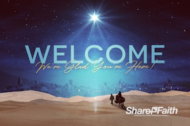 Christmas Journey Welcome Motion Graphic