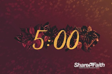 Merry Christmas Holly Countdown Timer