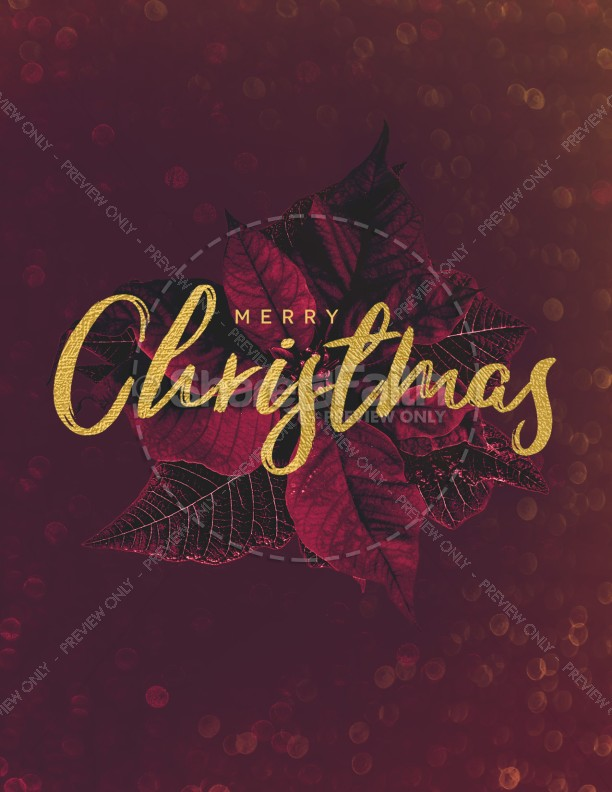 Merry Christmas Holly Flyer Template