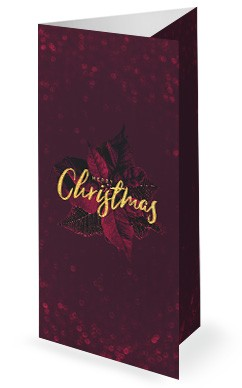 Merry Christmas Holly Trifold Bulletin Cover