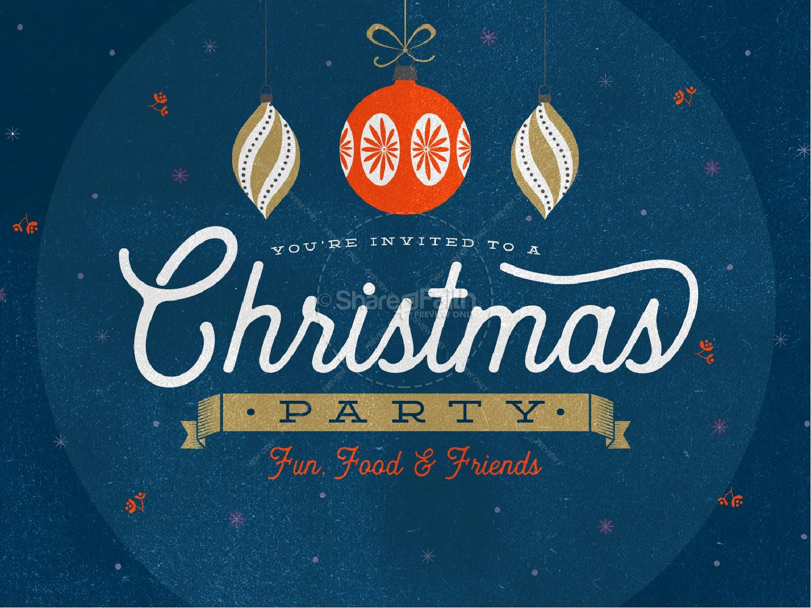 Christmas Party Invitation Graphic