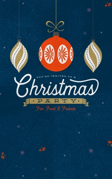 Christmas Party Invitation Bulletin