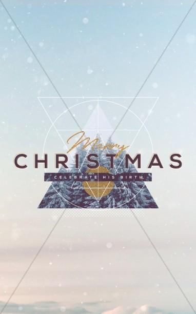 Merry Christmas Winter Bulletin Cover