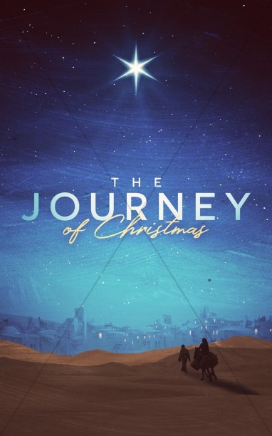 Christmas Journey Sermon Bulletin Cover