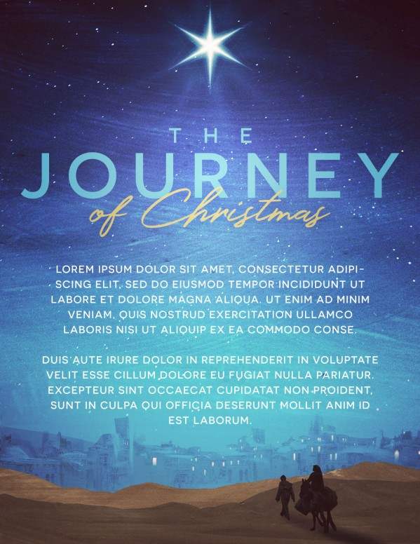 Christmas Journey Church Flyer Template