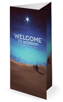 Christmas Journey Sermon Trifold Bulletin Cover