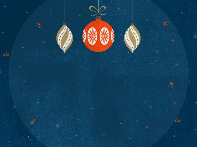 Christmas Party Ornament Worship Background