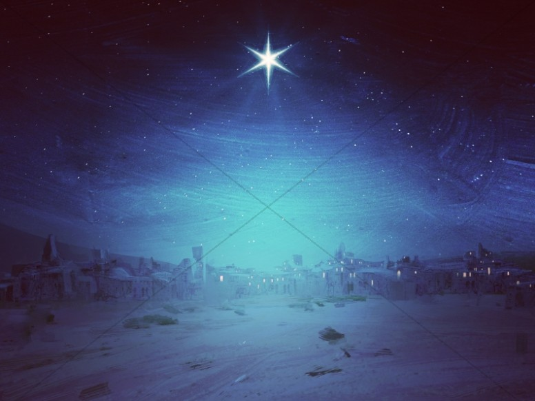 Christmas Journey Evening Star Worship Background