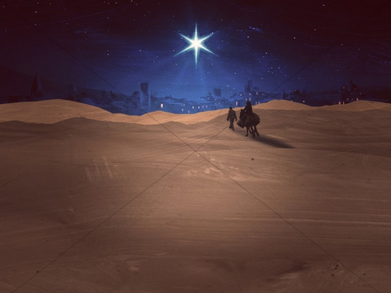 Christmas Journey Bethlehem Worship Background
