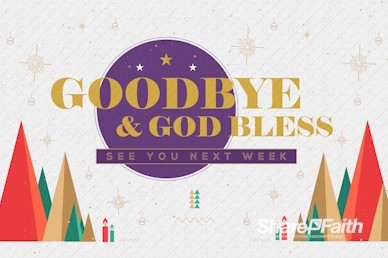 The First Noel Christmas Goodbye Motion Graphic