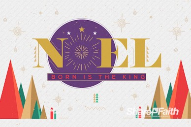 The First Noel Christmas Service Motion Graphic