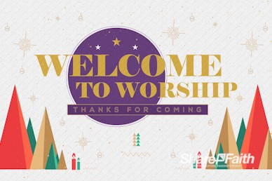 The First Noel Christmas Welcome Motion Graphic