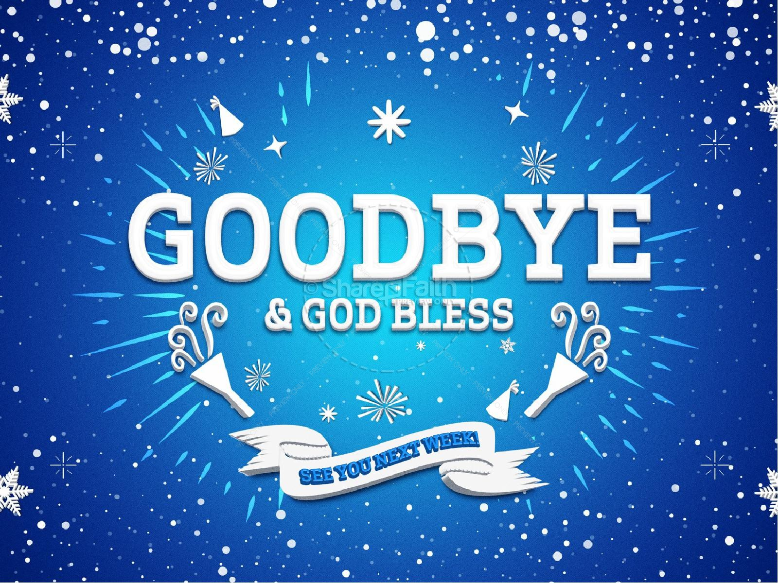 Happy New Year Winter Sermon Graphic