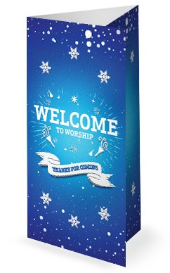 Happy New Year Winter Church Trifold Bulletin