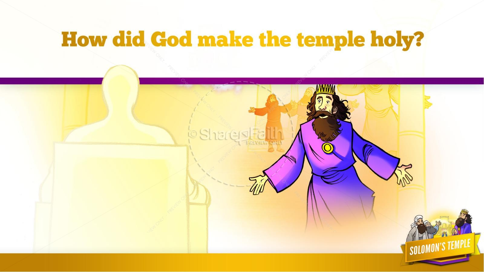 1 Kings 8 Solomon's Temple Kids Bible Story | slide 35