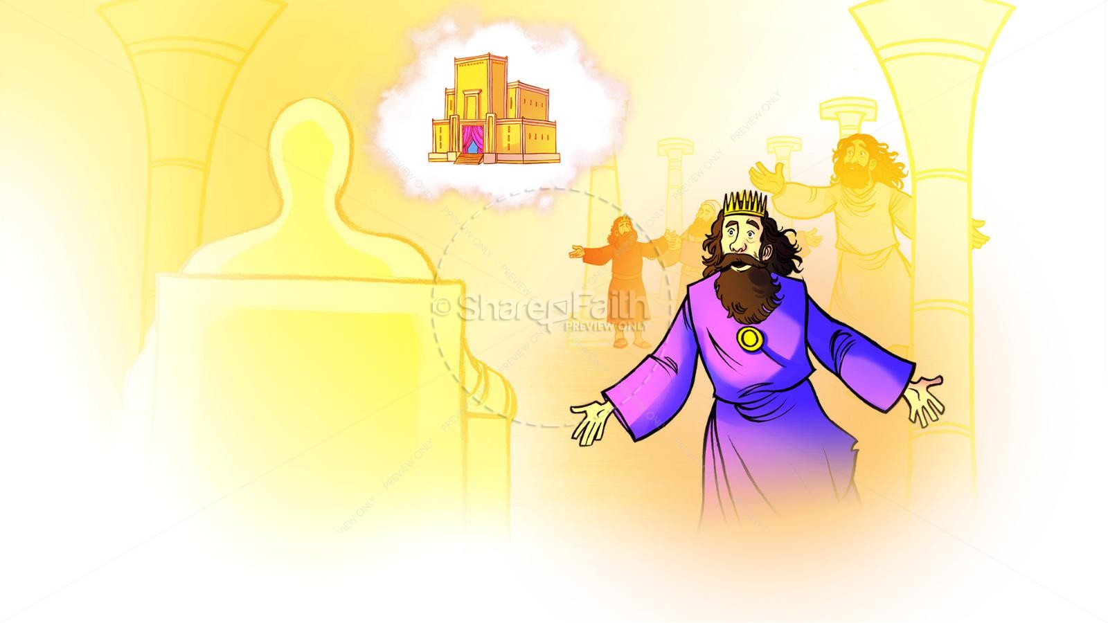 1 Kings 8 Solomon's Temple Kids Bible Story | slide 8