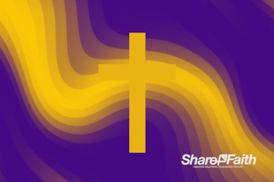 Pixel Waves Yellow Cross Motion Background