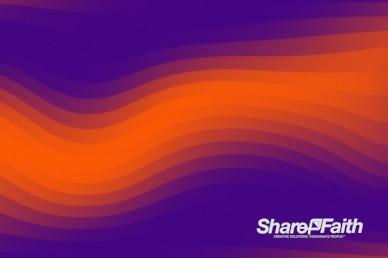 Orange Pixel Waves Motion Background