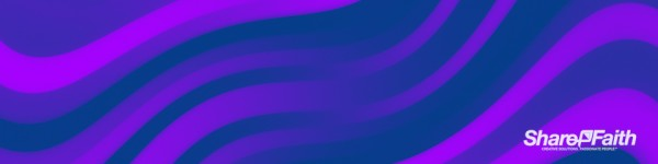 Purple Pixel Waves Triple Wide Motion Background
