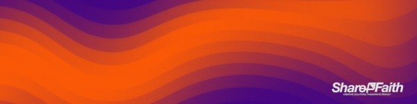 Orange Pixel Waves Triple Wide Motion Background